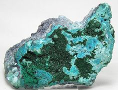 Malachit auf Chrysokoll kristalline Druzy große von FenderMinerals