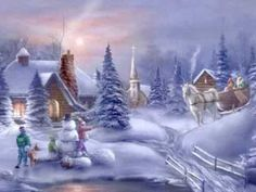 Images of merry christmas with beautiful landscape - Bellos paisajes de navidad Merry Christmas, Christmas Albums, Christmas Scenes, Christmas Music, Vintage Christmas Cards, Christmas Pictures, Winter Christmas, Christmas Time, French Christmas