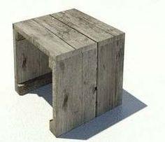 Doe het zelf houten tafeltje voorbeeld aan de hand van een #bouwtekening voor steigerhout.