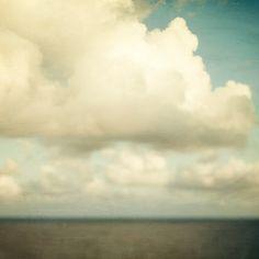 Cloud Art, Bathroom Decor, Nature Art, Landscape Photography, Cloud Print, Bathroom Art, Blue, White, Summer 8x8 - Send in the clouds