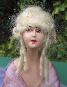 "Antique German Art Deco Boudoir Half Doll  "" LILLI BAITZ "" Type 11 1/2"" Tall."