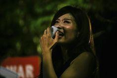 昨夜の国会前抗議行動の写真また連投します。吠えるSEALDs_2 #SEALDs #本当に止める