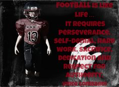 INSPIRATIONAL FOOTBALL - VINCE LOMBARDI QUOTE