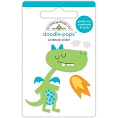 Dragon Tails Puff Dragon Tails Doodle-Pops 3D Stickers