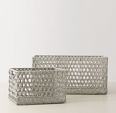 Diamond Open-Weave Storage - Grey