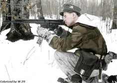 Ski-jäger.  Taken on February 4 1944 in the area around what is now Припять (Pripyat) Ukraine.