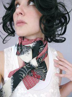 recycled vintage tie scarf.