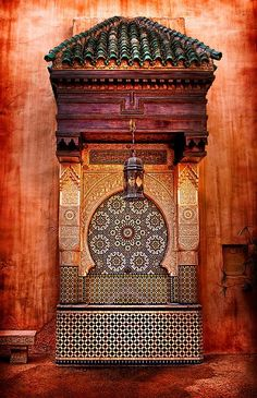 Old Moroccan fountain. Every inch of this country should be preserved as a UNESCO world heritage site.