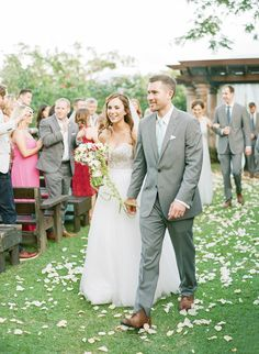bridal recessional - photo by Lisa Blume Photography http://ruffledblog.com/destination-wedding-in-a-puerto-rican-rainforest