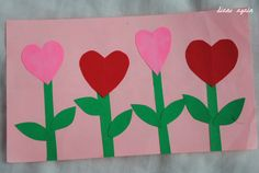 heart flower garden.