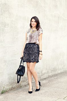 Want to pair my snakeskin blouse with a lace skirt now