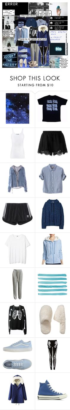 """Sans (Undertale)"" by thebittercold ❤ liked on Polyvore featuring Vince, Twin-Set, Margaret Howell, adidas Originals, T By Alexander Wang, Made For Life, Sans Souci, Wildfox, Old Navy and Vans"