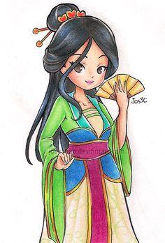 Mulan by JosiiChan.deviantart.com on @DeviantArt
