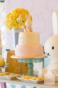 Miffy-inspired Birthday Cake | http://babyandbreakfast.ph/2015/07/27/miffy-bunny-bash/ | Photo and Styling: Party Deco
