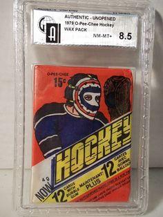 "1977-78 O-Pee-Chee Hockey Wax Pack GAI NM-MT 8.5 Orr,Trottier  ""mislabeled 1979"" #HockeyCards"
