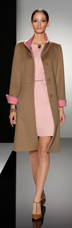 I love this coat. Looks nicely tailored and no belt needed.