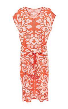 Cap Sleeve Wrap Front Dress by PEPA POMBO for Preorder on Moda Operandi