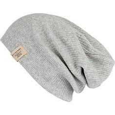 Grey knit beanie hat £8.00