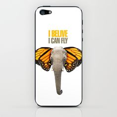 BUTTERFLY ELEPHANT iPhone & iPod Skin by VINSPIRO - $15.00
