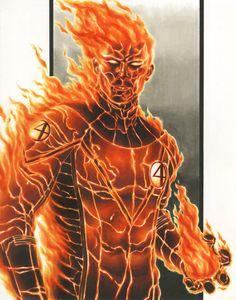 Fantastic 4: The Human Torch by smlshin@deviantART