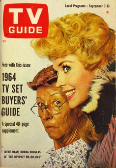 TV Guide, September 7, 1963 — Irene Ryan & Donna Douglas in The Beverly Hillbillies (1962-71, CBS)