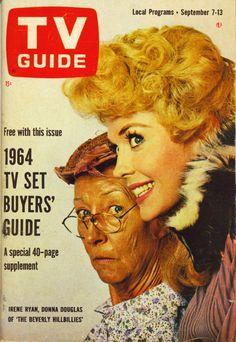 TV Guide, September 7, 1963 — Irene Ryan & Donna Douglas in The Beverly Hillbillies (1962-71, CBS)