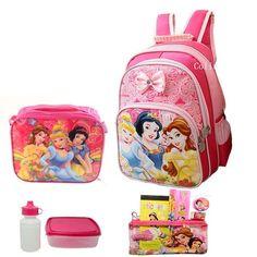 Disney Princess Backpack with School Supplies Set