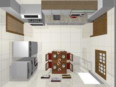 Vista aeréa cozinha