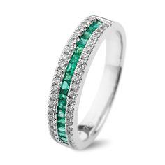 Engagement ring/ Inel cu smaralde si diamante C110
