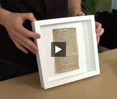 Design editor Joel Bray demonstrates how to create chic shadow boxes using memorabilia and collectibles and inexpensive Ikea frames. Try this easy project this weekend!