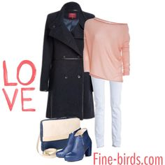 Sunday Love Women Outfit All products available on www.fine-birds.com Woolcoat (Girlfriendcoat) by Lanius Cashmere Pullover by neyo. Fashion Organic Jeans by Wunderwerk Ankle Boots & Handbag by Nine to Five