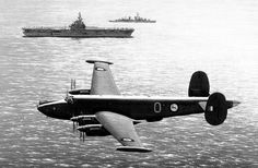 An Avro Shackleton 3 passing USS Essex Note the Springbok Roundels, unique to 1716 and 1717 before the introduction of the 'Castles' Courtesy of the Ron Belling Art Trust, Ron Belling and Louis Vosloo Avro Shackleton, South African Air Force, Bell Art, Korean War, Royal Air Force, Documentary, World War, Airplane, Planes