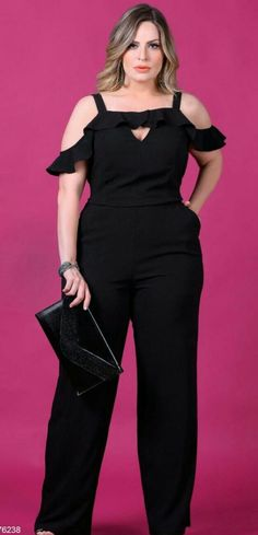 Big Girl Fashion, Curvy Fashion, Plus Size Fashion, Womens Fashion, Hijab Fashion, Fashion Outfits, Modelos Plus Size, Plus Size Jumpsuit, Looks Plus Size
