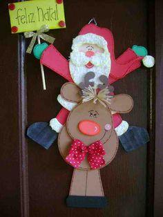 Molde Santa Feliz Natal
