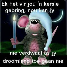 slaap Good Night Wishes, Good Night Quotes, Good Morning Good Night, Morning Wish, Maus Illustration, Greetings For The Day, Christian Dating Advice, Good Knight, Afrikaanse Quotes