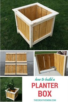 How to Build a Planter Box. Quick and easy beginner build. Plans from Ana White How to Build a Planter Box. Quick and easy beginner build. Plans from Ana White How to Build a Planter Box. Quick and easy beginner build. Plans from Ana White Easy Woodworking Projects, Popular Woodworking, Diy Wood Projects, Woodworking Plans, Outdoor Projects, Woodworking Classes, Youtube Woodworking, Woodworking Joints, Woodworking Machinery