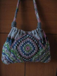 freeform crochet bag
