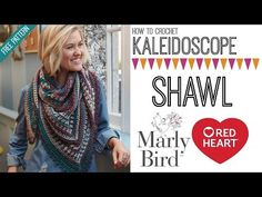 Join me in this video tutorial where I walk you through how to make the Kaleidoscope Crochet Shawl from start to finish. This is a FREE crochet shawl pattern from Red Heart. The video has been done for both right handed and left handed crocheters.