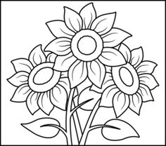 Sunflower - Coloring Page