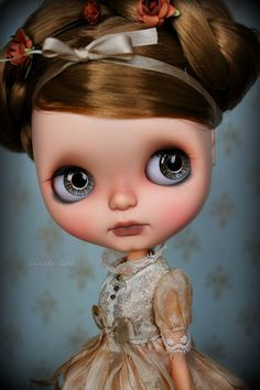 Custom OOAK Blythe ART Doll - Bixby by Cupcake Curio