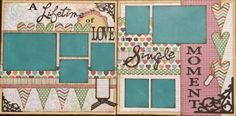 Valentines Scrapbook Page- A Lifetime of Love in a Single Moment - baby boy. https://www.facebook.com/groups/70061785544/ scrappaperscizzors.com