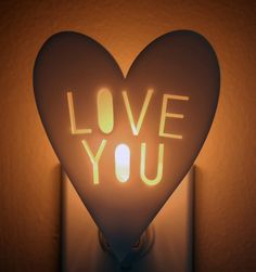 Love You night light by owlyshadowpuppets on Etsy, $22.00
