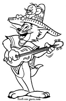 prinable tom costumes mexican coloring page printable coloring pages for kids