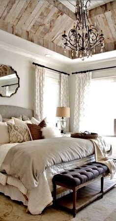 cool I Love everything about this bedroom! Makes me want to jump in that bed with a g...
