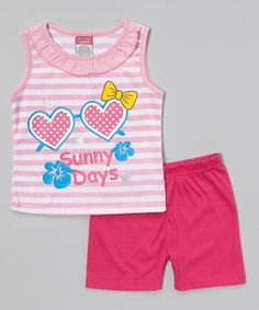 9873f89130 This Angel Face Pink  Sunny Days  Ruffle Tank   Shorts - Infant   Toddler