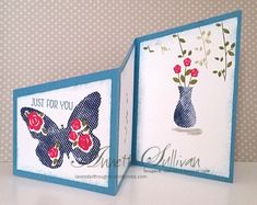 Floral Wings Trifold Angle