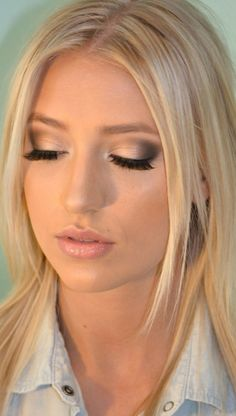 Beautiful makeup fro blondes, great for a wedding