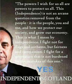 Alex Salmond on Scottish Independence - Scotland YES! 2014
