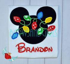 Personalized - Disney -Christmas -Shirt -Cruise-Parks -Mickey -Minnie- inspired- Custom- Applique- Family - Embroidery - Monogram by bowsandgirls on Etsy