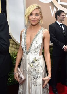 Sienna Miller in Miu Miu. Ethereal and edgy at the same time. Plus loved the texture of the hair.